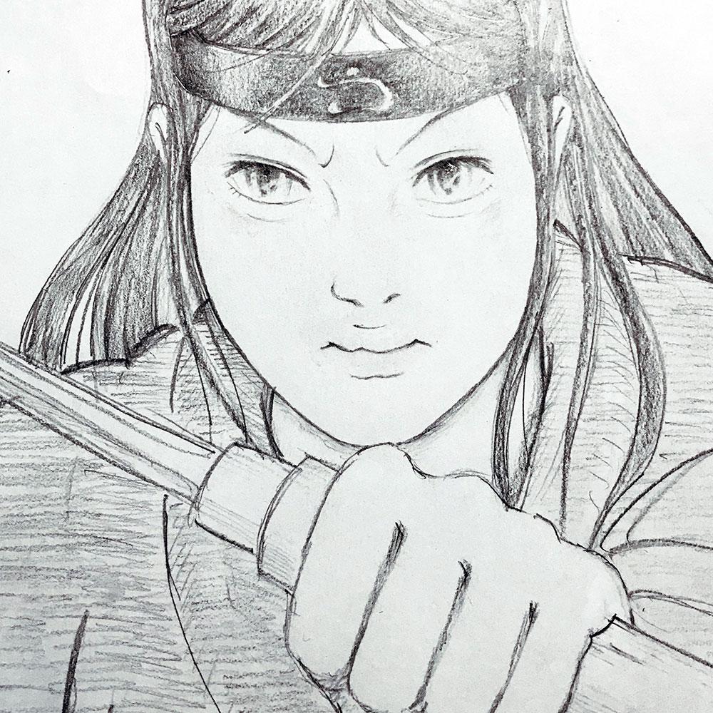 短剣を持つ忍者