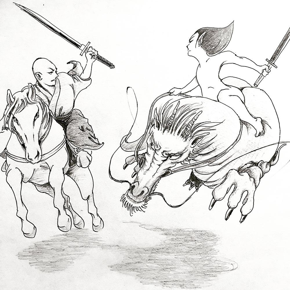 馬VS走竜