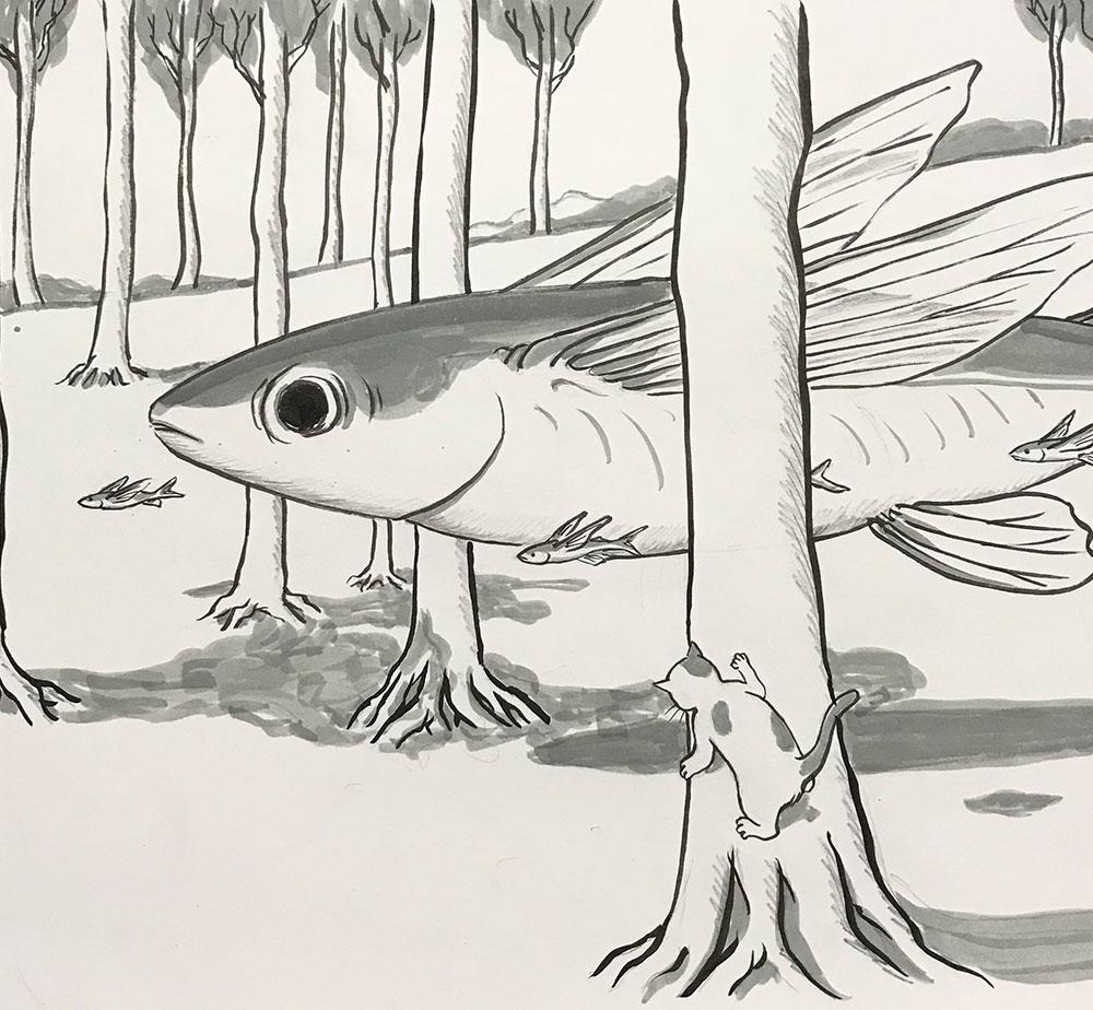 妖怪飛び魚