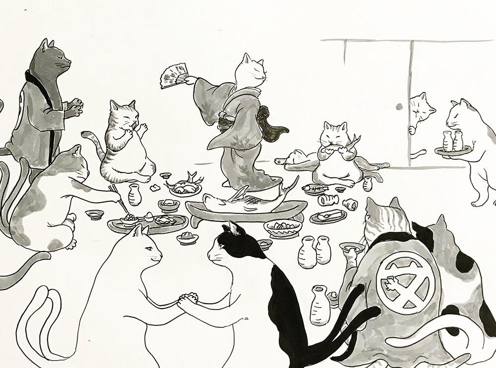 猫又一家の酒宴 NEKOMATA