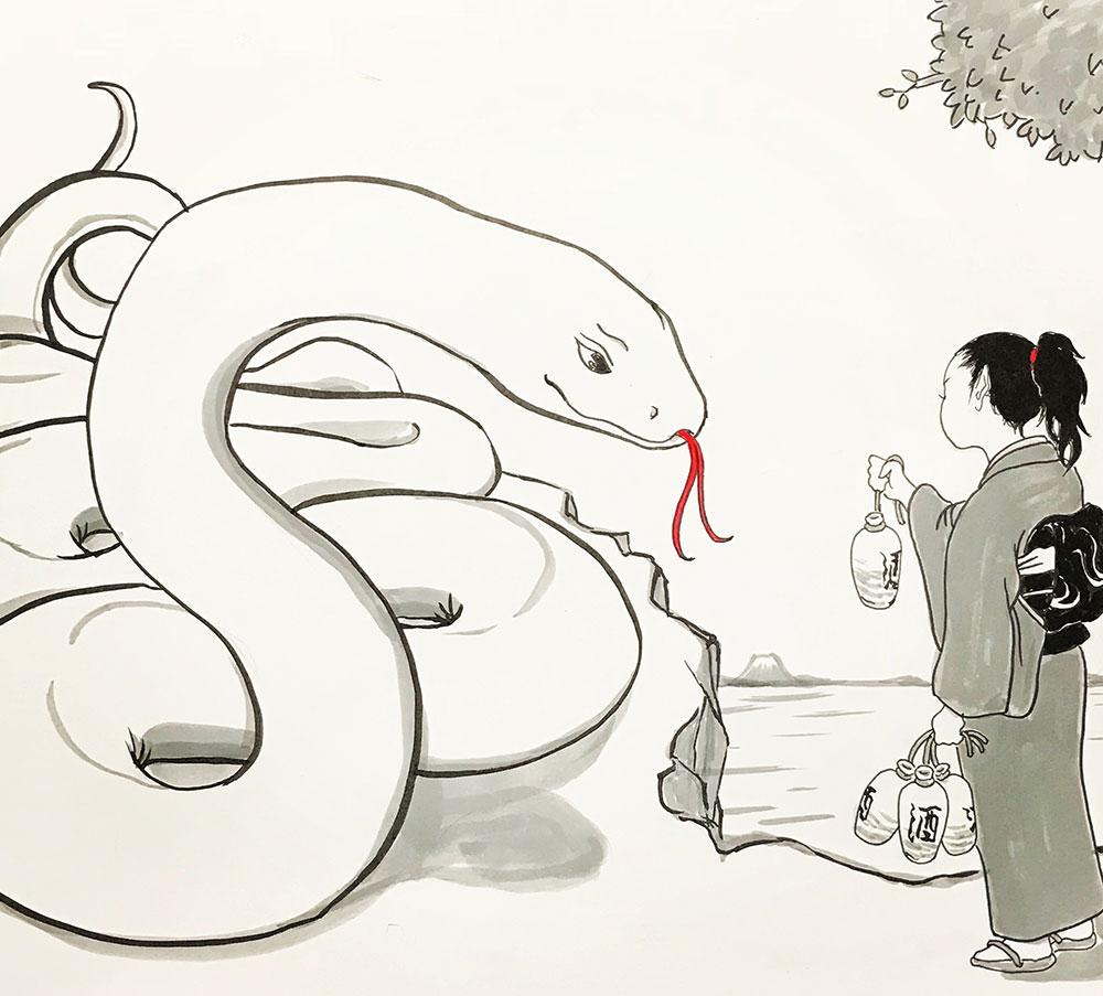 白蛇さんにご挨拶
