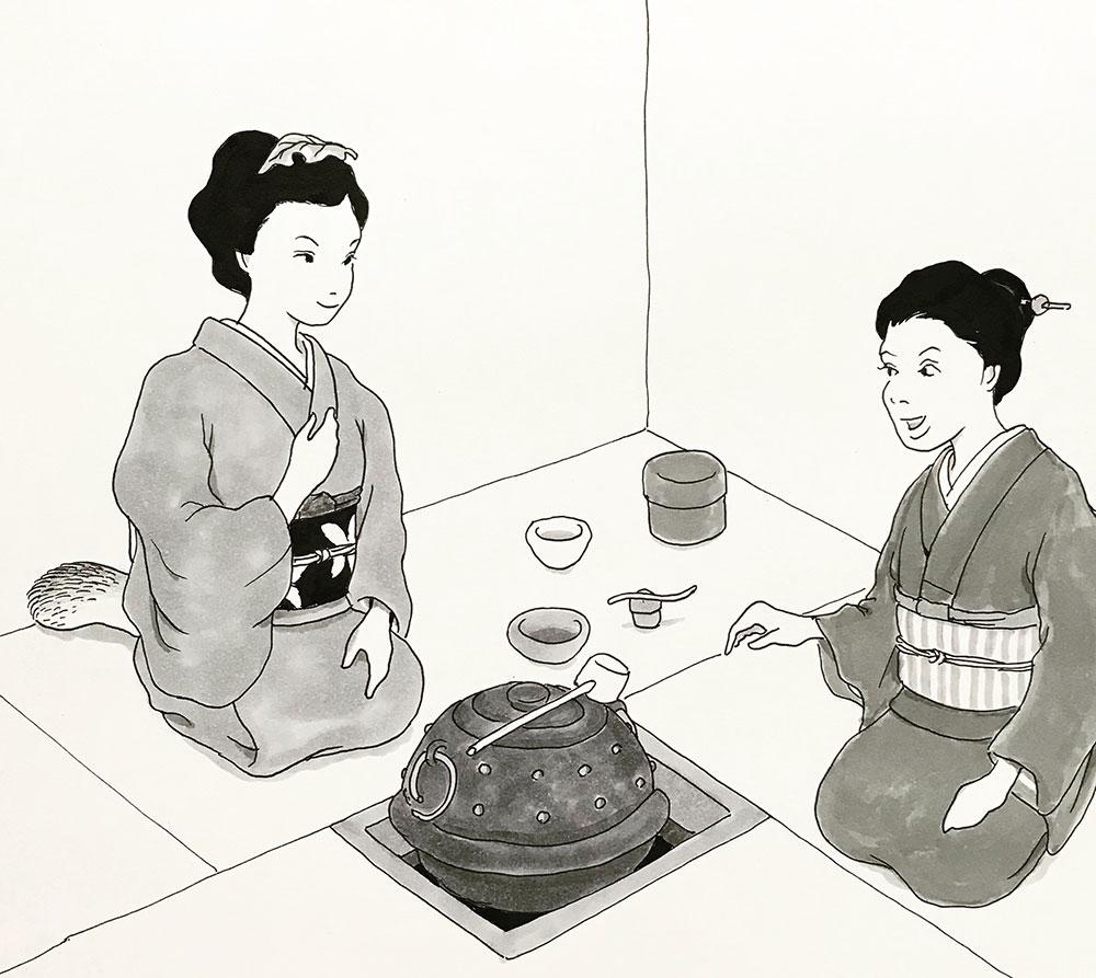 狸娘お茶を習う TANUKI