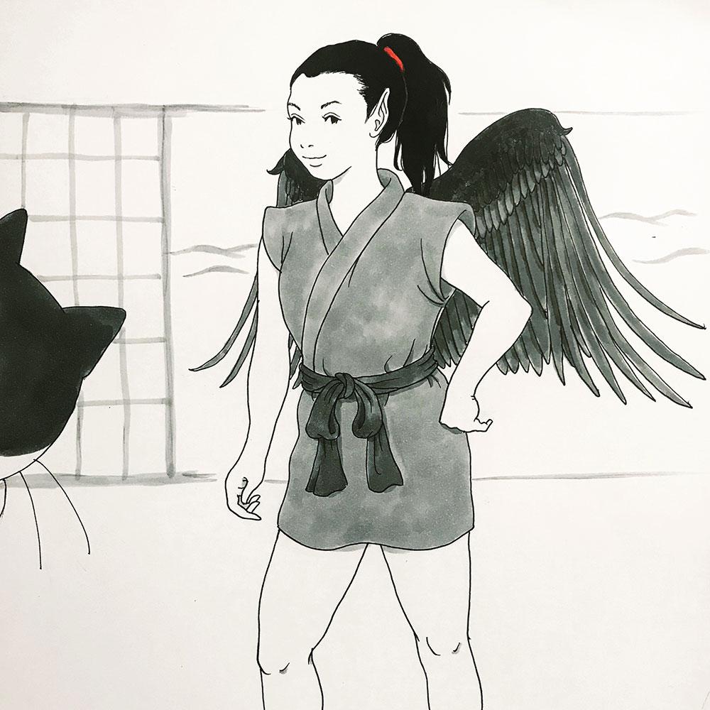 羽付き妹からす KARASU