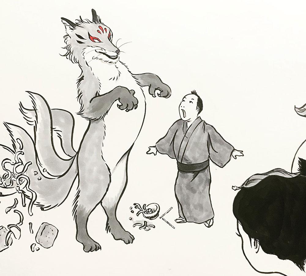 狐先生が最強モードで変身! TANUKI
