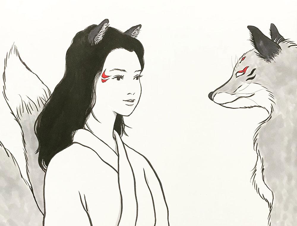 狐先生のお姉さん登場 KITSUNE