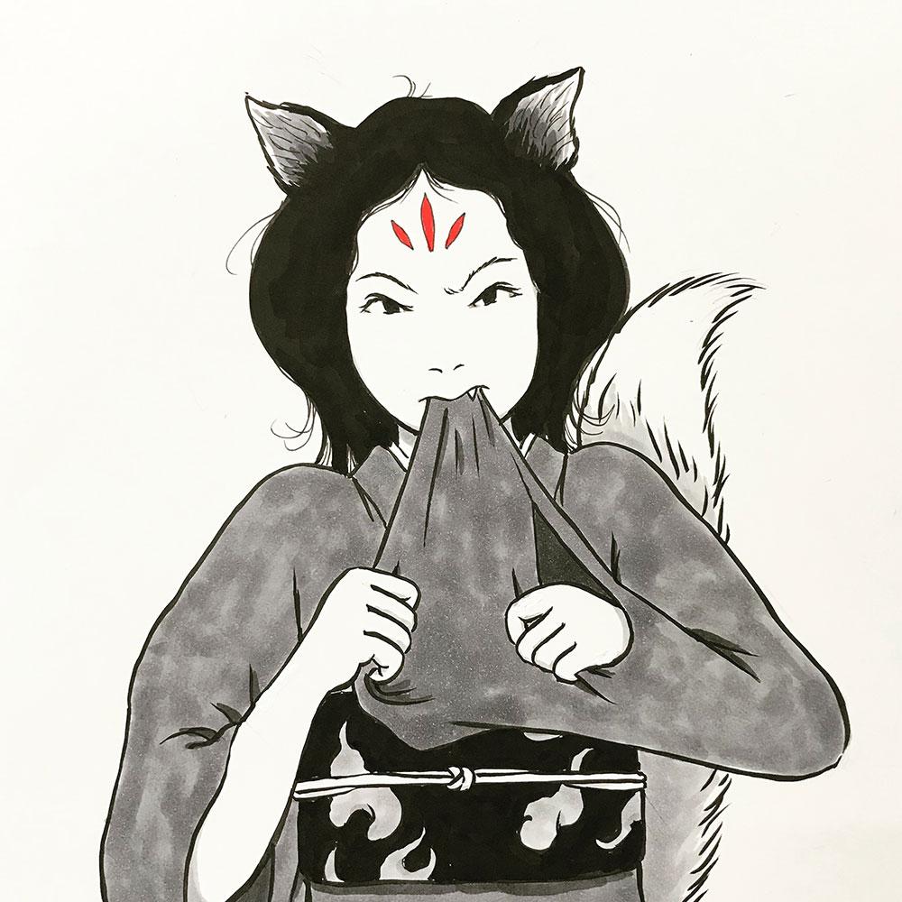 狐のお玉ちゃん怒ってる KITSUNE