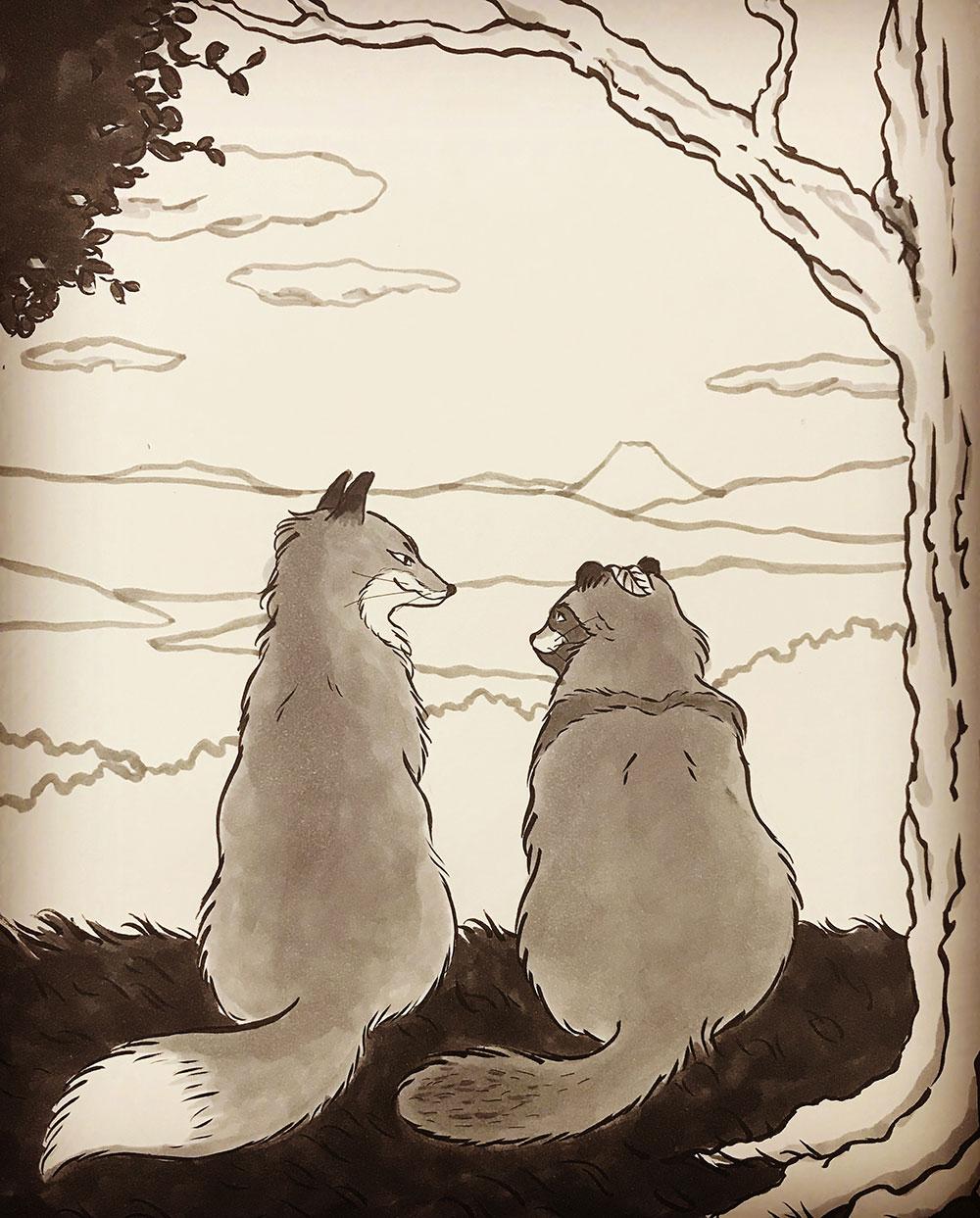 お玉ちゃんと狸娘 KITSUNE & TANUKI