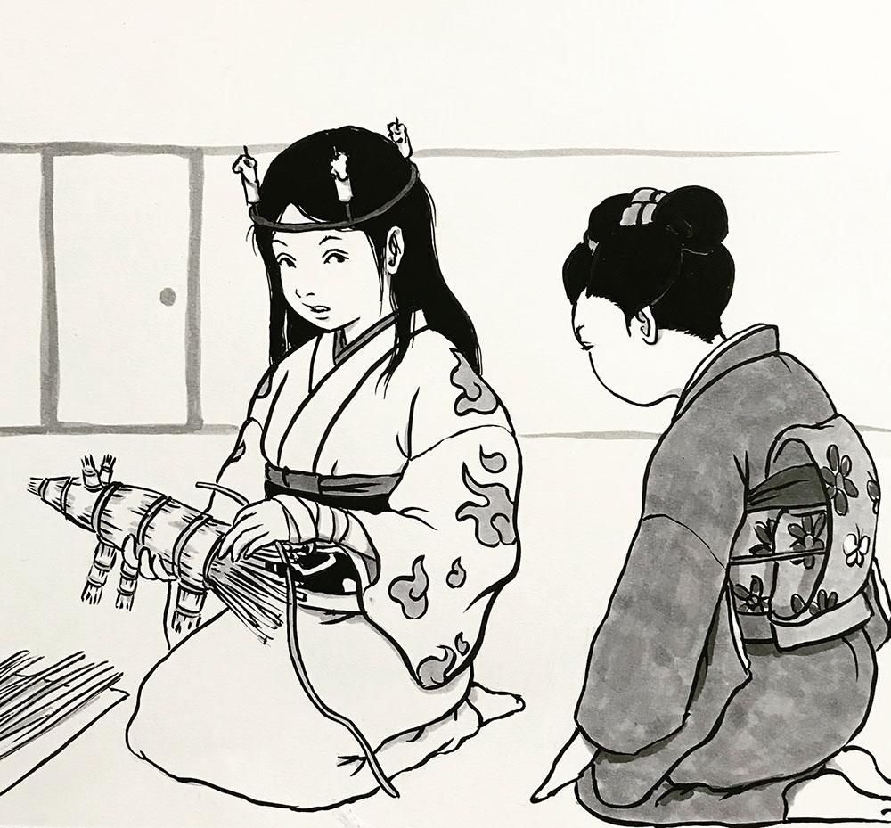 丑の刻参り(犬のわら人形) USHINOKOKU-MAIRI