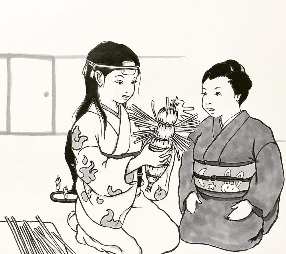 丑の刻参り(わら蜂形?) USHINOKOKU-MAIRI