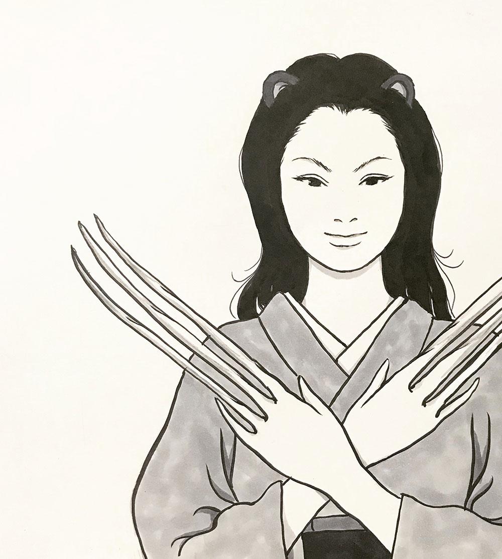 かまいたちの娘の戦闘モード KAMA-ITACHI