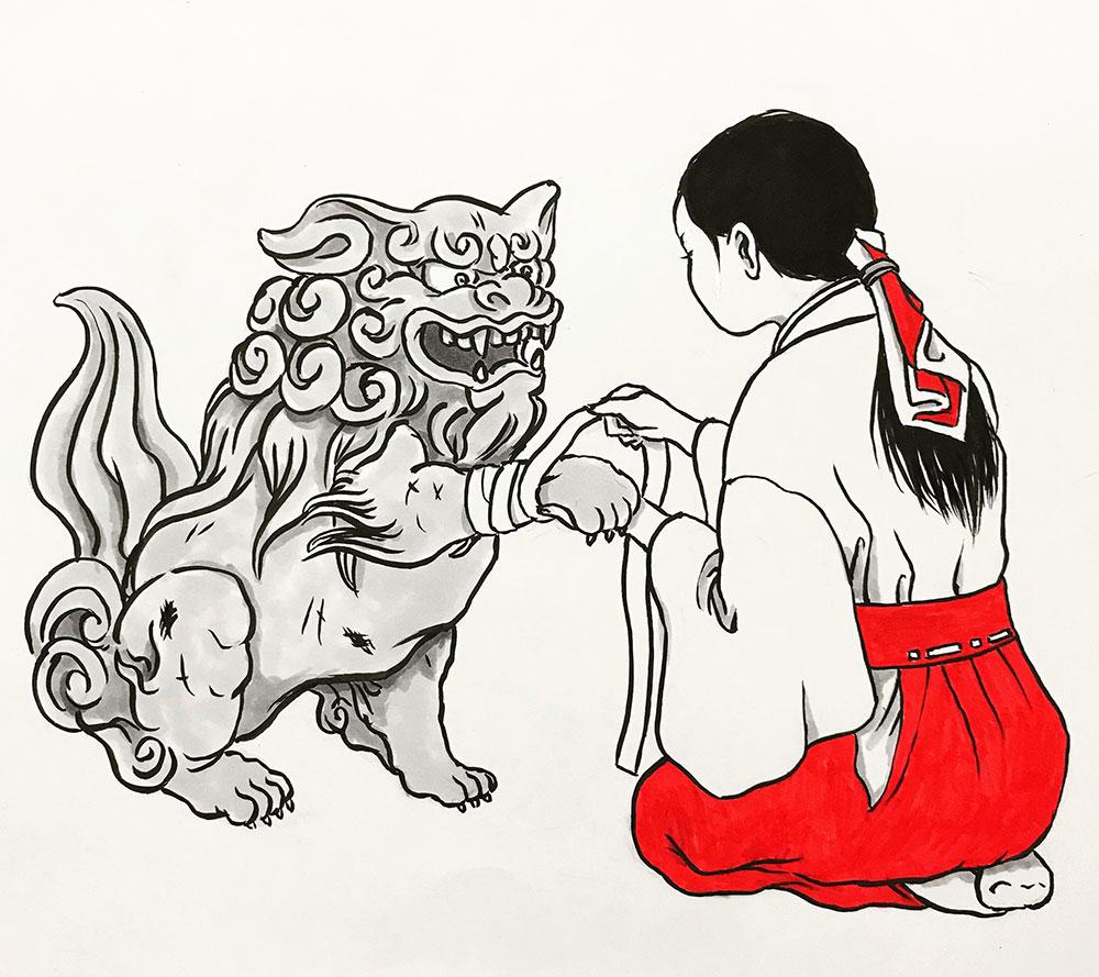 お玉ちゃんの母と戦った狛犬 KITSUNE