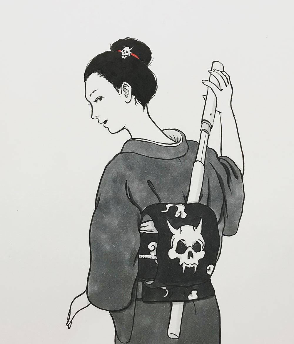 女侍の背中 ONNA-SAMURAI