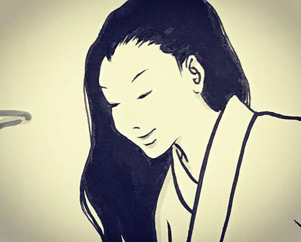 秋にたたずむおしづさん YUREI-OSHIZU3