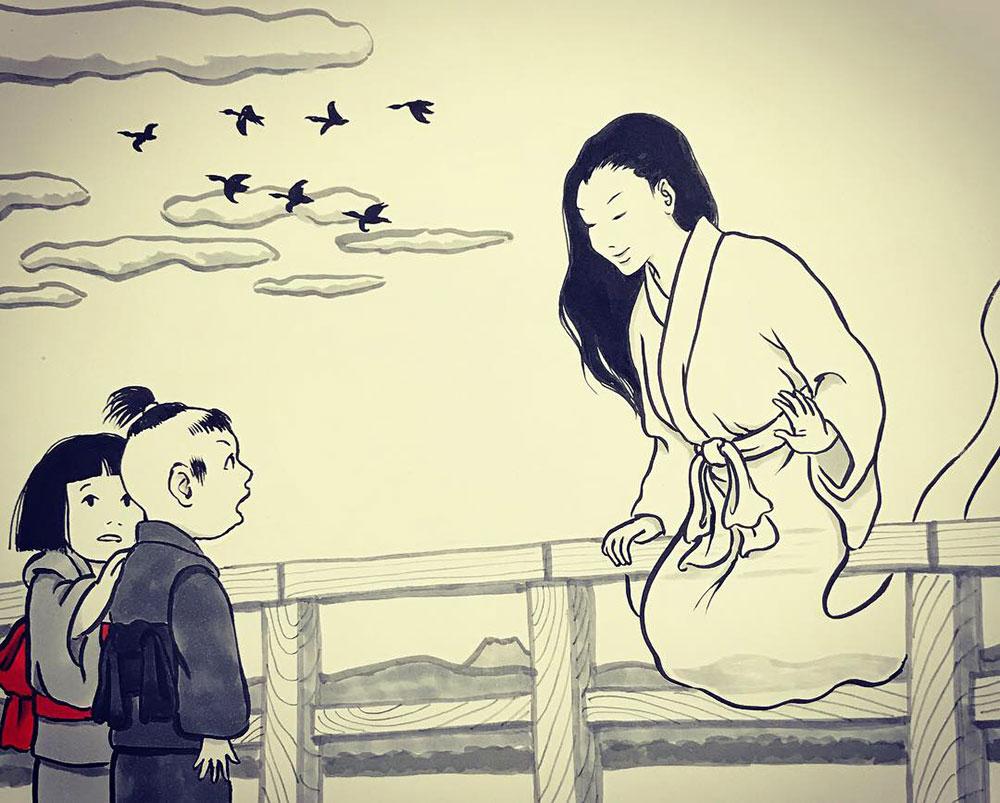 秋にたたずむおしづさん YUREI-OSHIZU1