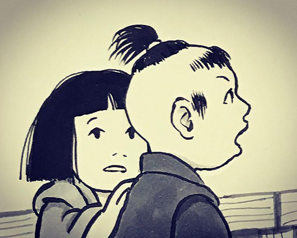 秋にたたずむおしづさん YUREI-OSHIZU2