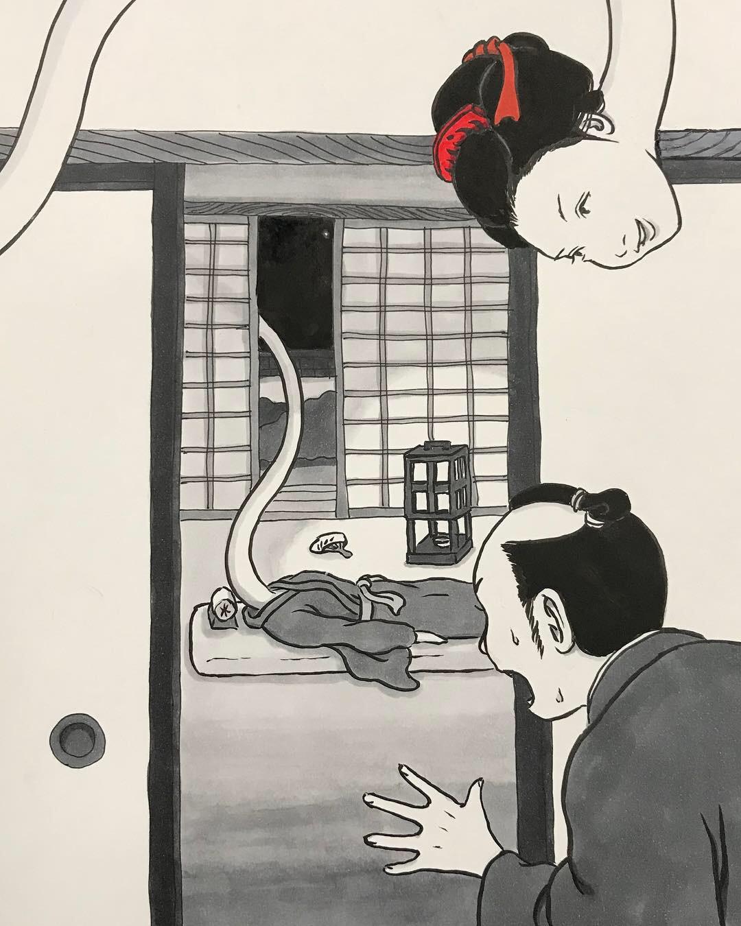 ろくろっ首のお菊さん久々 ROKURO-KUBI4