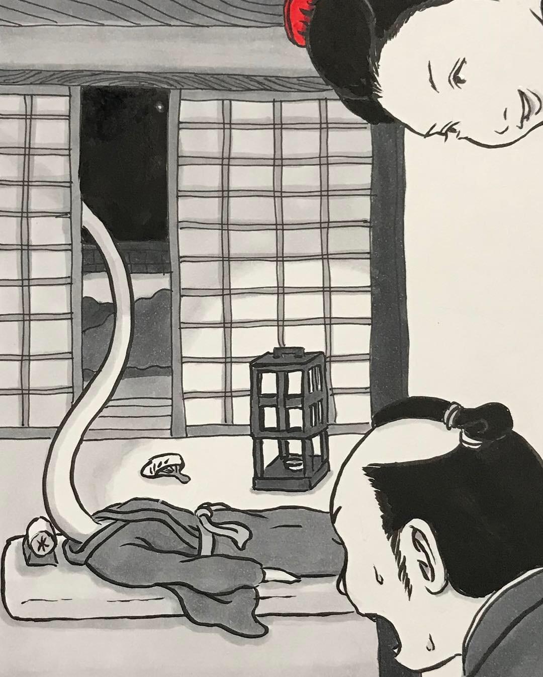 ろくろっ首のお菊さん久々 ROKURO-KUBI3