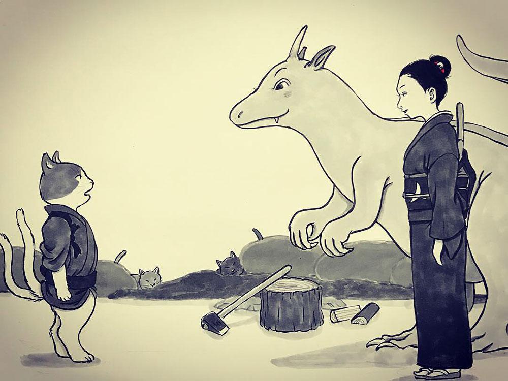 月にのねえさんと怪獣2 NEKOMATA3