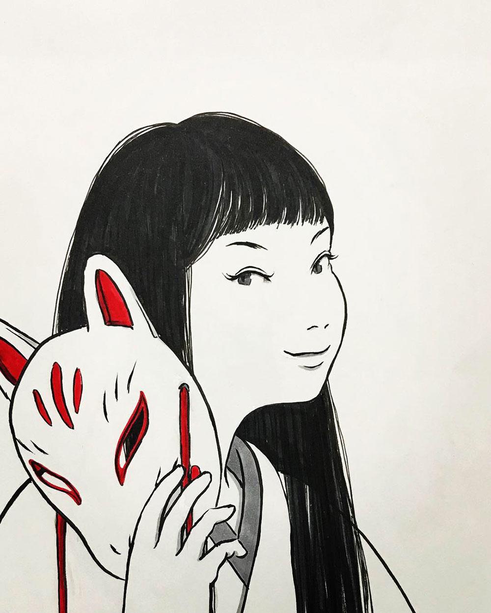 狐面の女 KITSUNE2