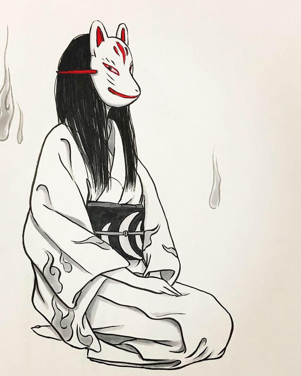 狐面の女 KITSUNE1