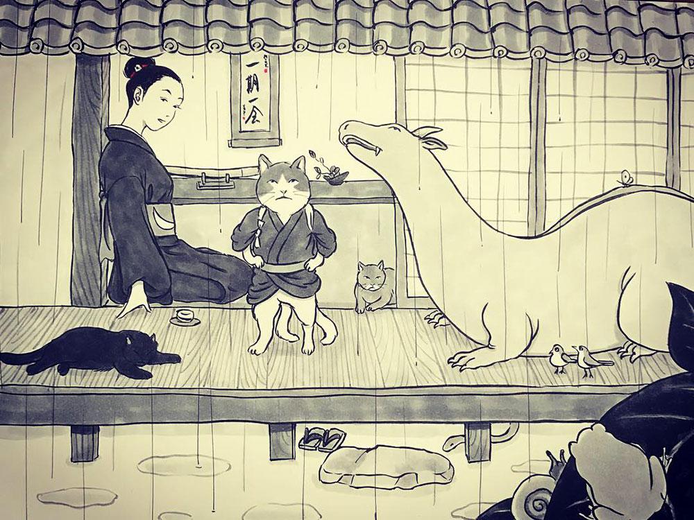 雨の三匹 NAKOMATA2