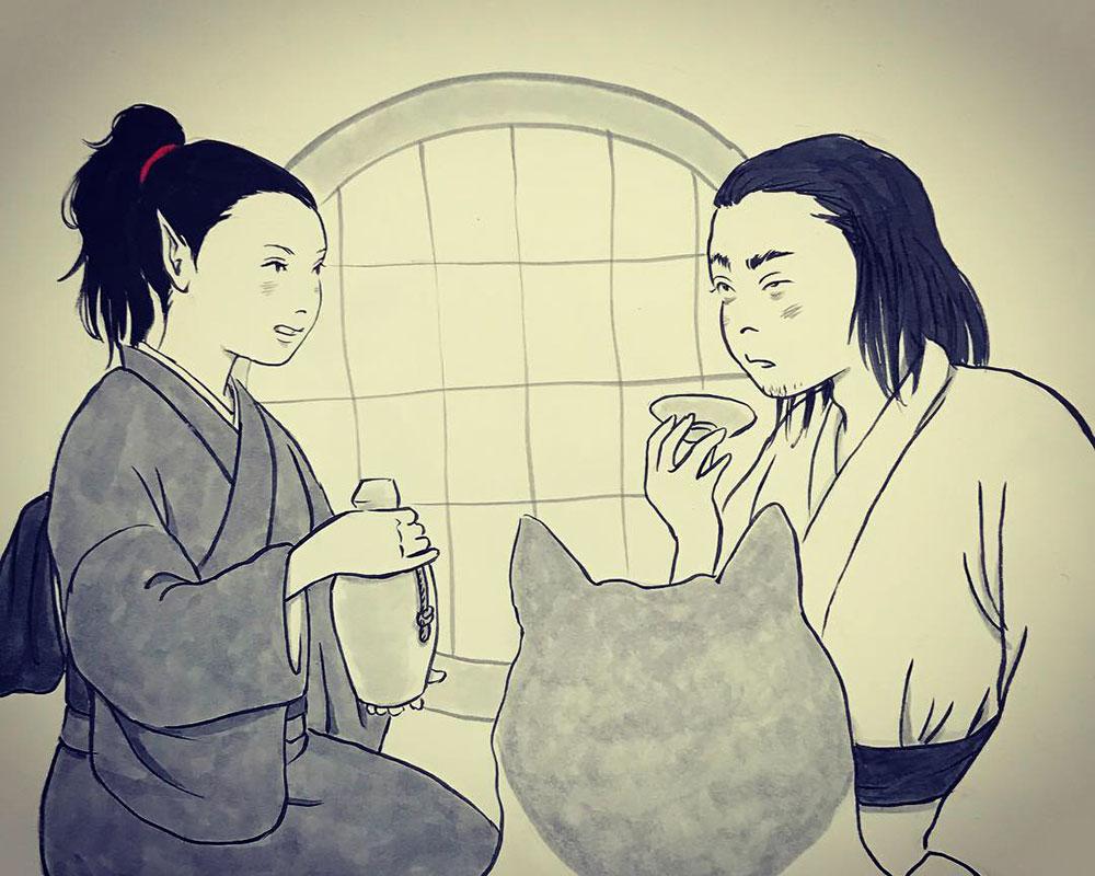 白蛇さんの冬眠 KARASU&SHIROHEBI1