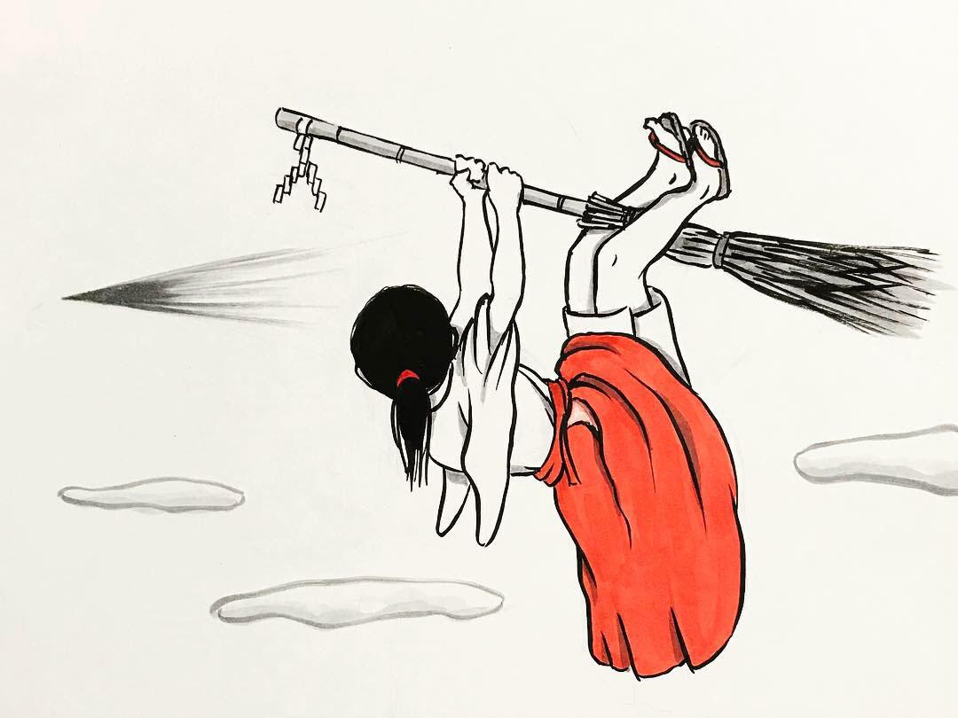 空飛ぶおこんと巫女さん OKON&MIKOSAN6