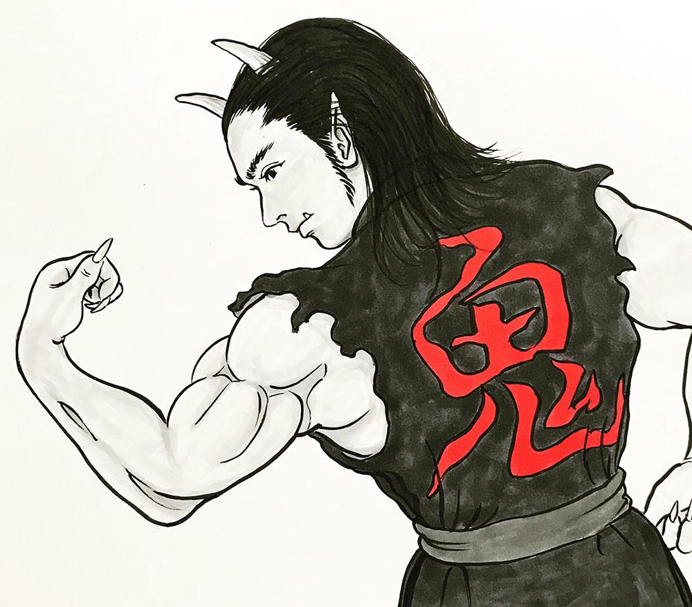 鬼の三郎がトレーニング開始 ONI