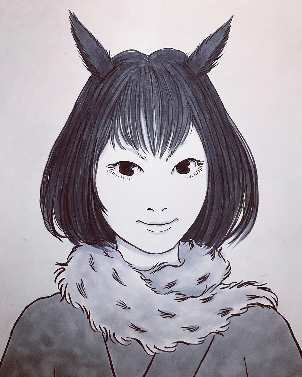 野鳥妖怪シリーズ②ミミズク MIMIZUKU