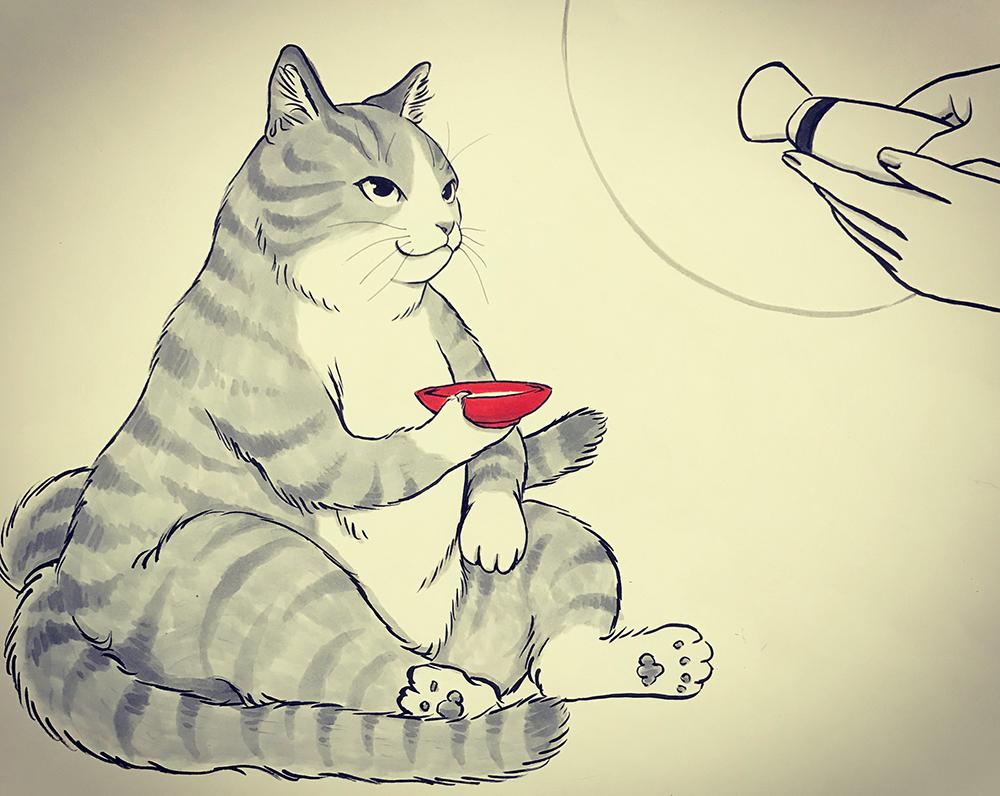 猫又図 NEKOMATA