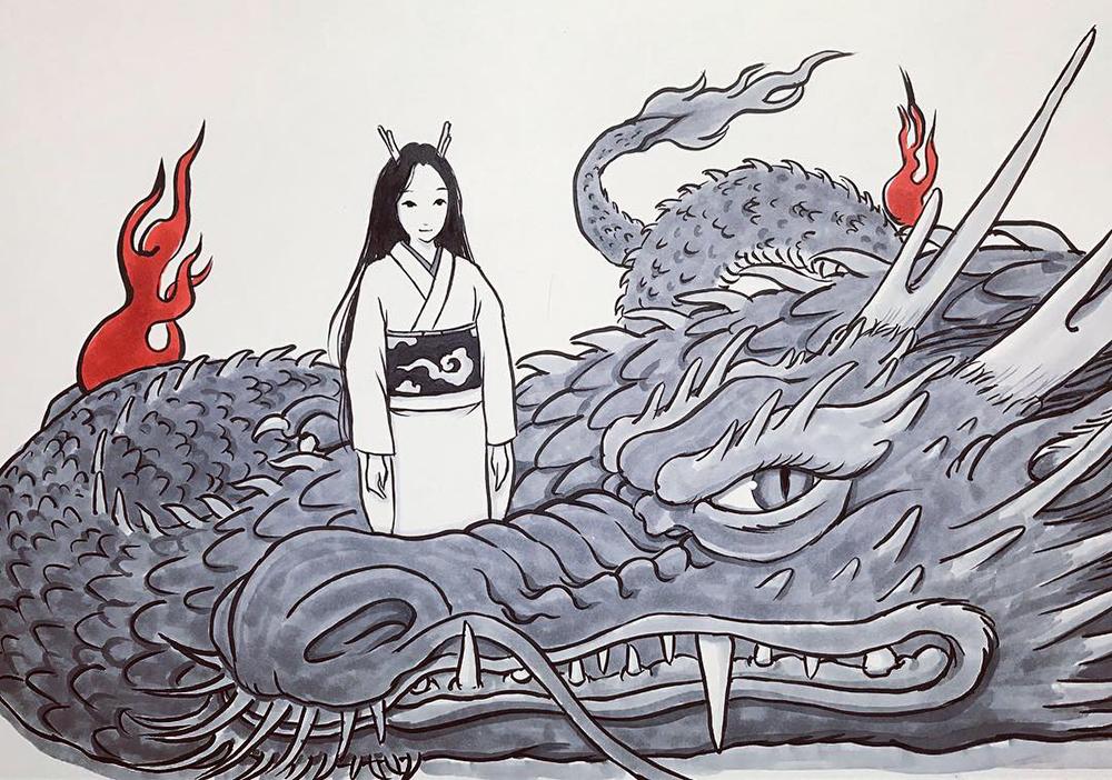 龍を描くのは何回目だろう? RYU1
