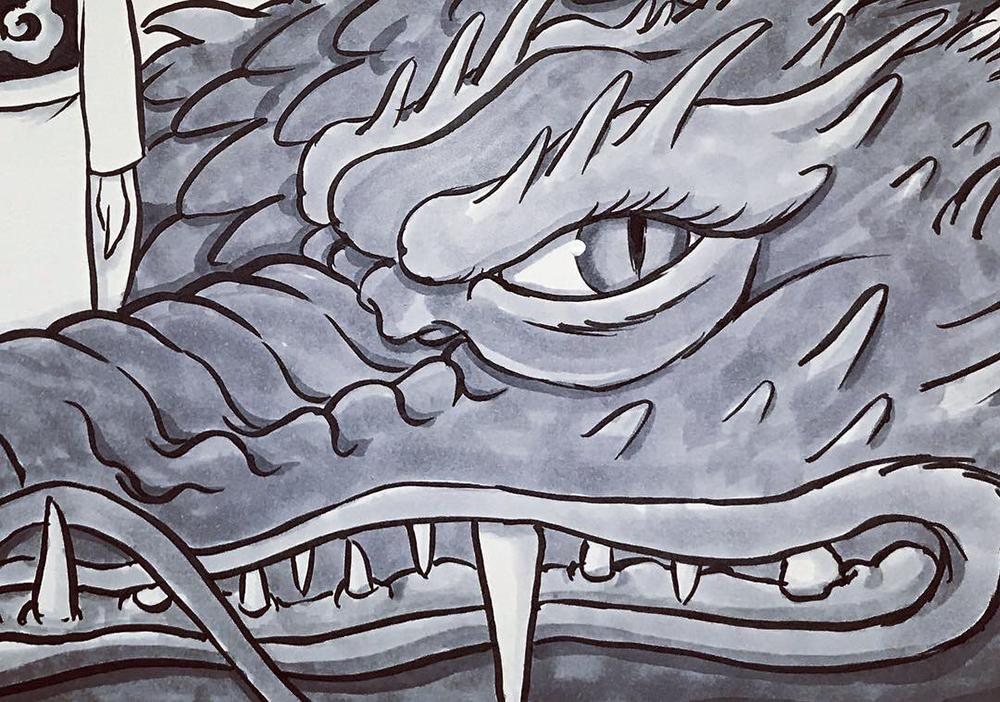 龍を描くのは何回目だろう? RYU2