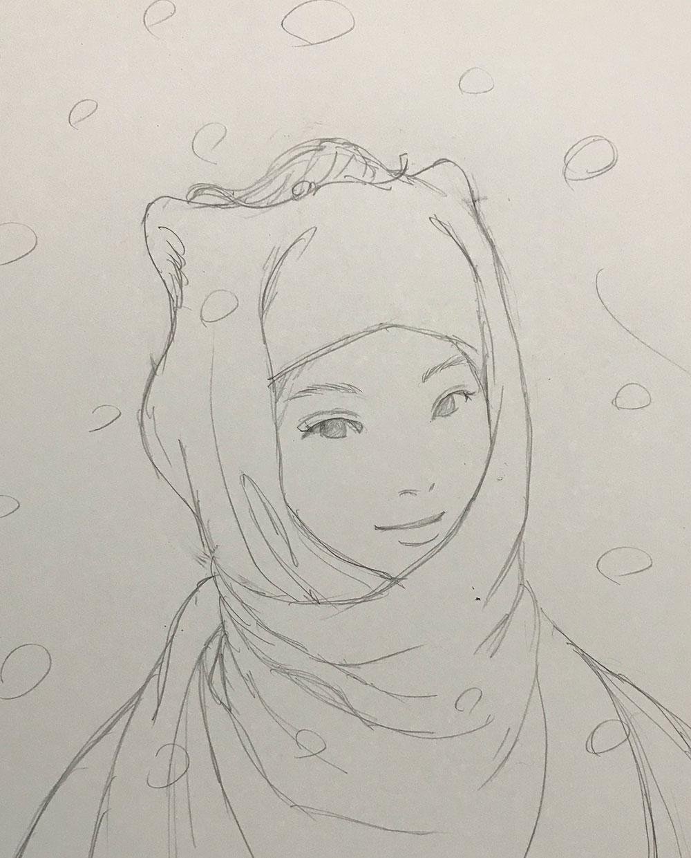 雪の狸娘 TANUKI2