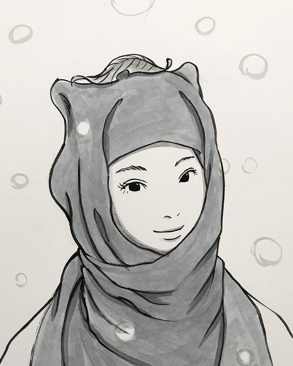 雪の狸娘 TANUKI1