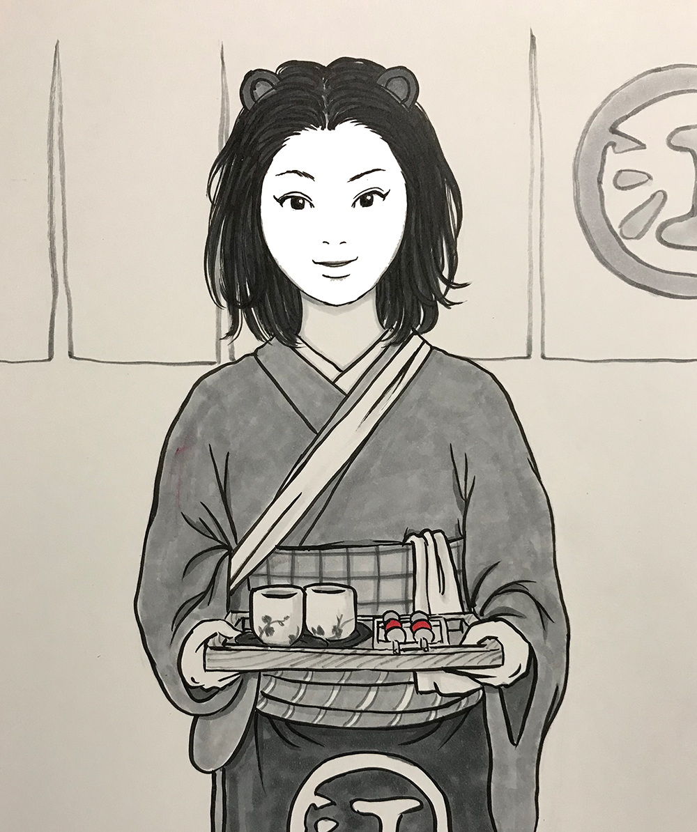 かまいたちの娘水茶屋で働く KAMAITACHI