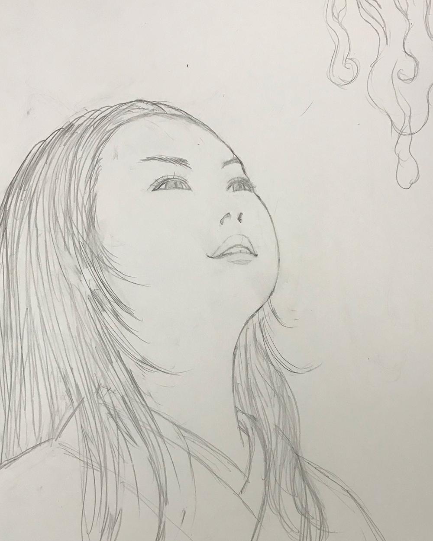 上を見上げる顔の日 MIAGERU3