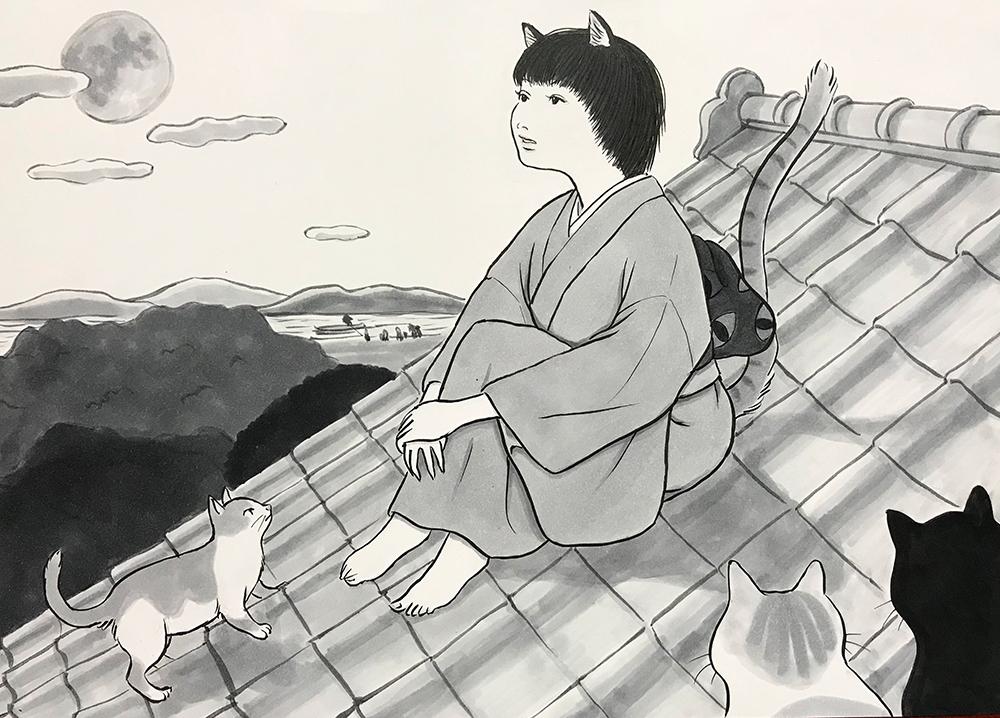 屋根の上の猫娘 MEKOMUSUME