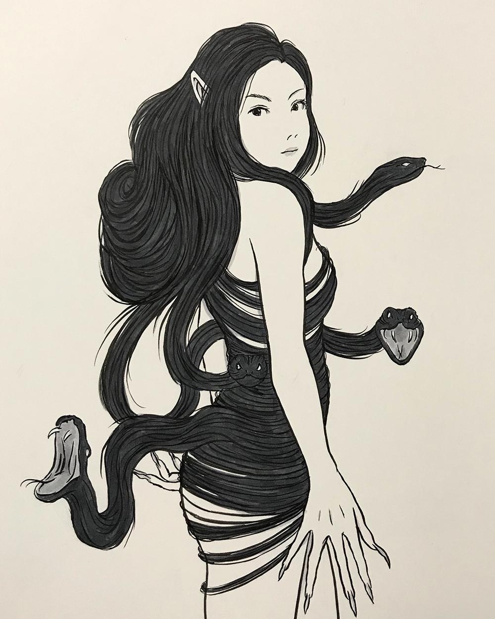 謎の妖怪の正体は二口女 FUTAKUCHI-ONNA1