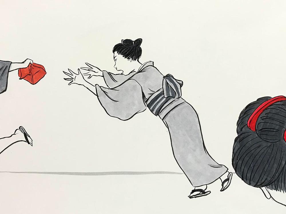 お菊どろぼうを捕まえる OKIKU2