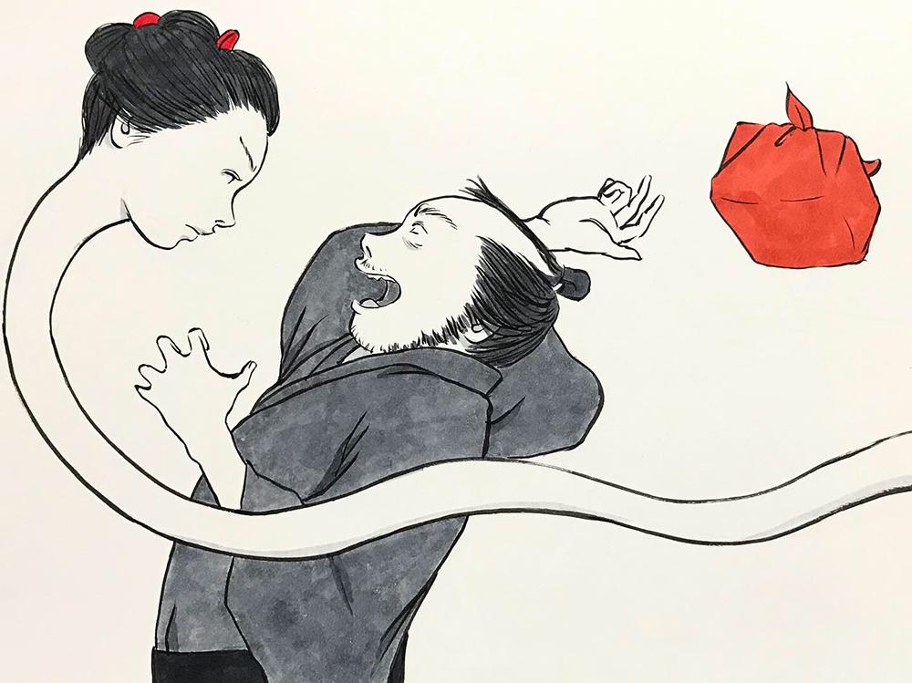 お菊どろぼうを捕まえる OKIKU6