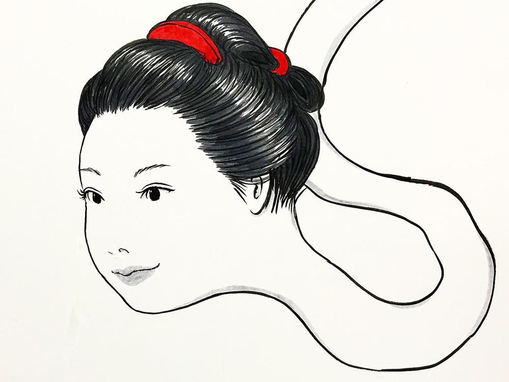 お菊が子供を助ける OKIKU10