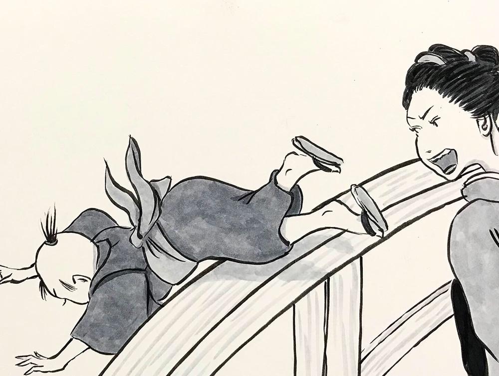 お菊が子供を助ける OKIKU3