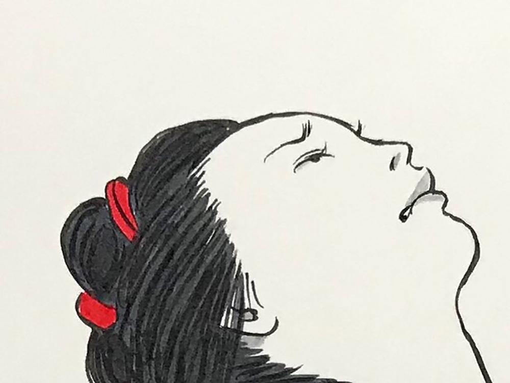 お菊が子供を助ける OKIKU6
