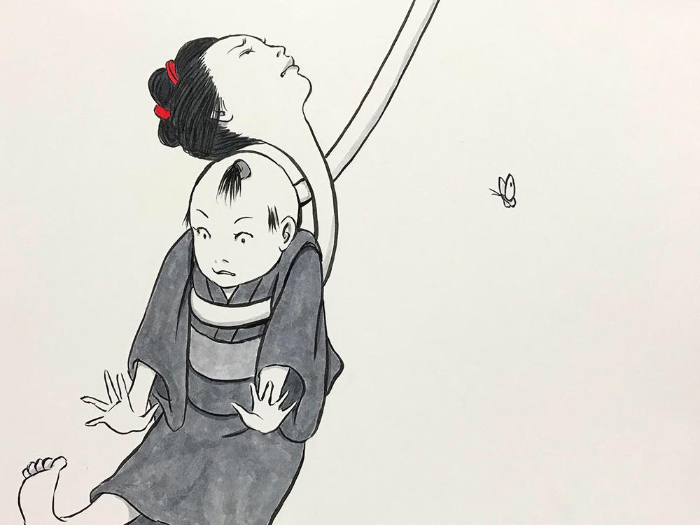お菊が子供を助ける OKIKU7