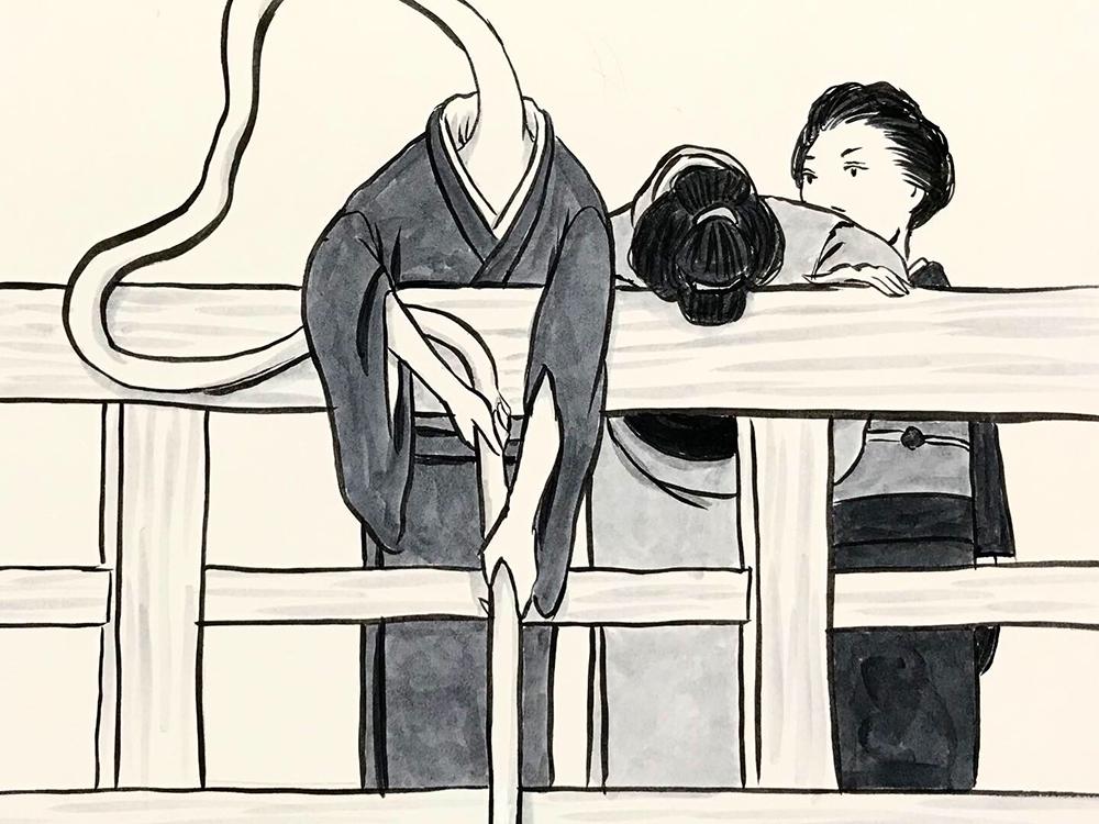 お菊が子供を助ける OKIKU8