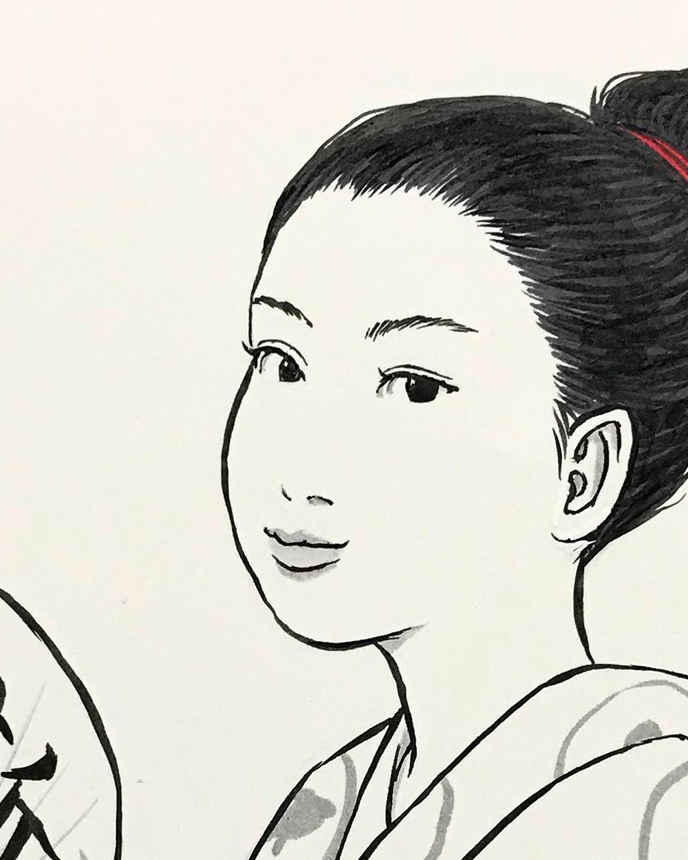 浴衣姿の月代姐さん TSUKIYO1