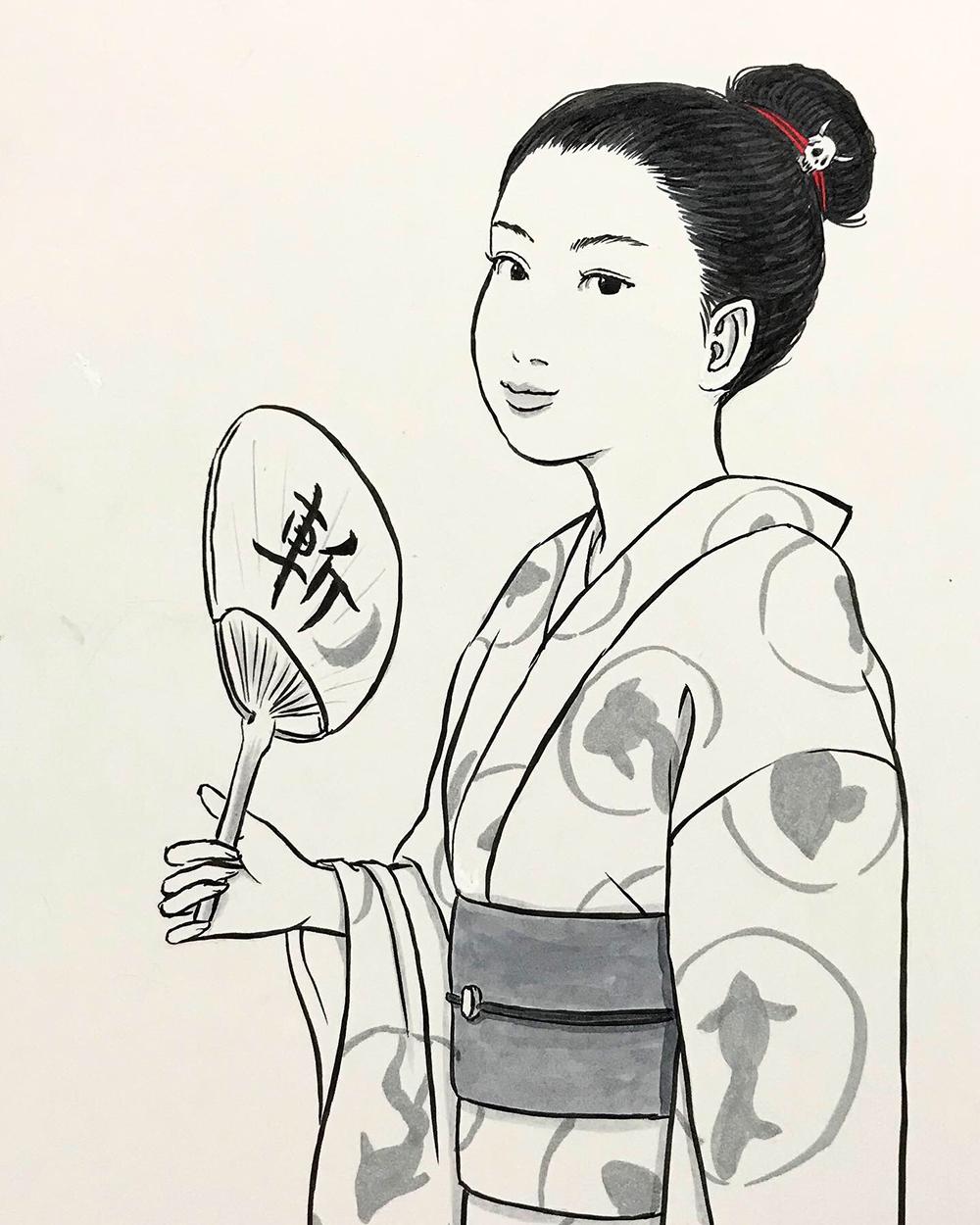 浴衣姿の月代姐さん TSUKIYO2