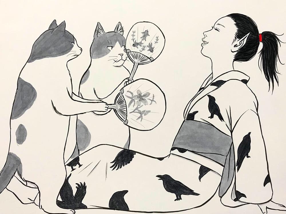 からすの猫涼み KARASU2
