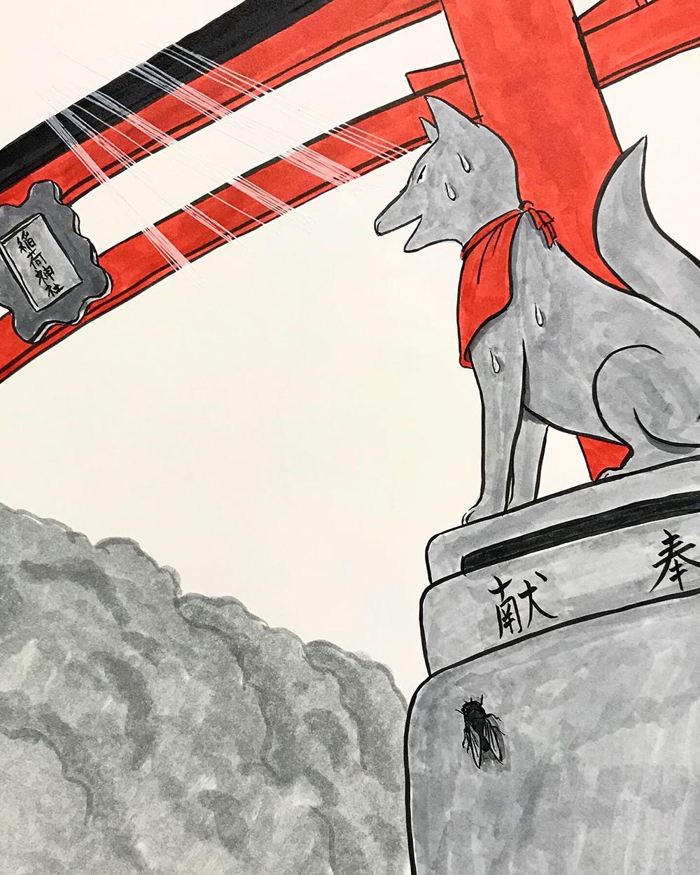 おこんと江戸最新式の日傘1