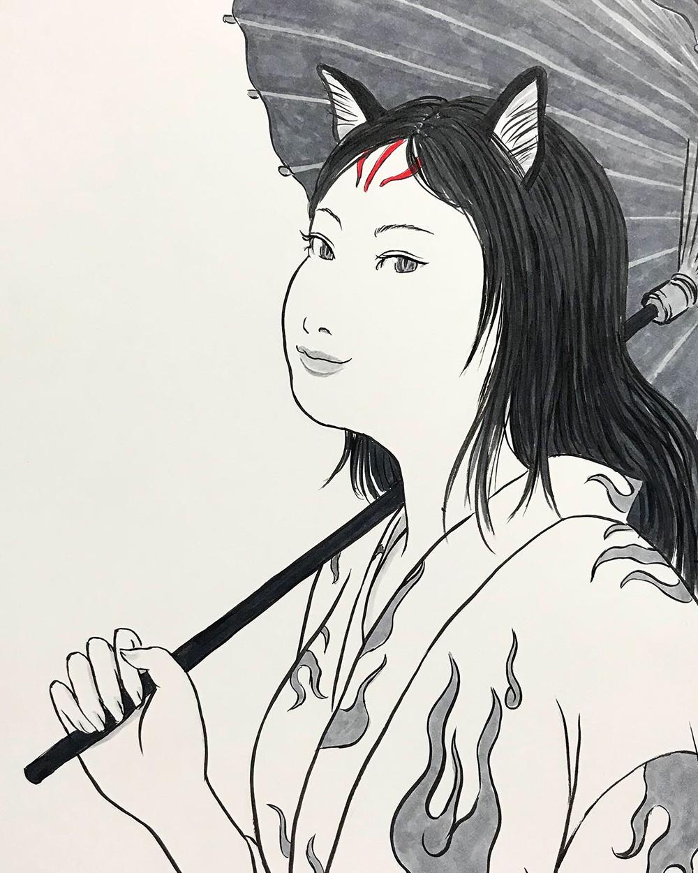 おこんと江戸最新式の日傘3